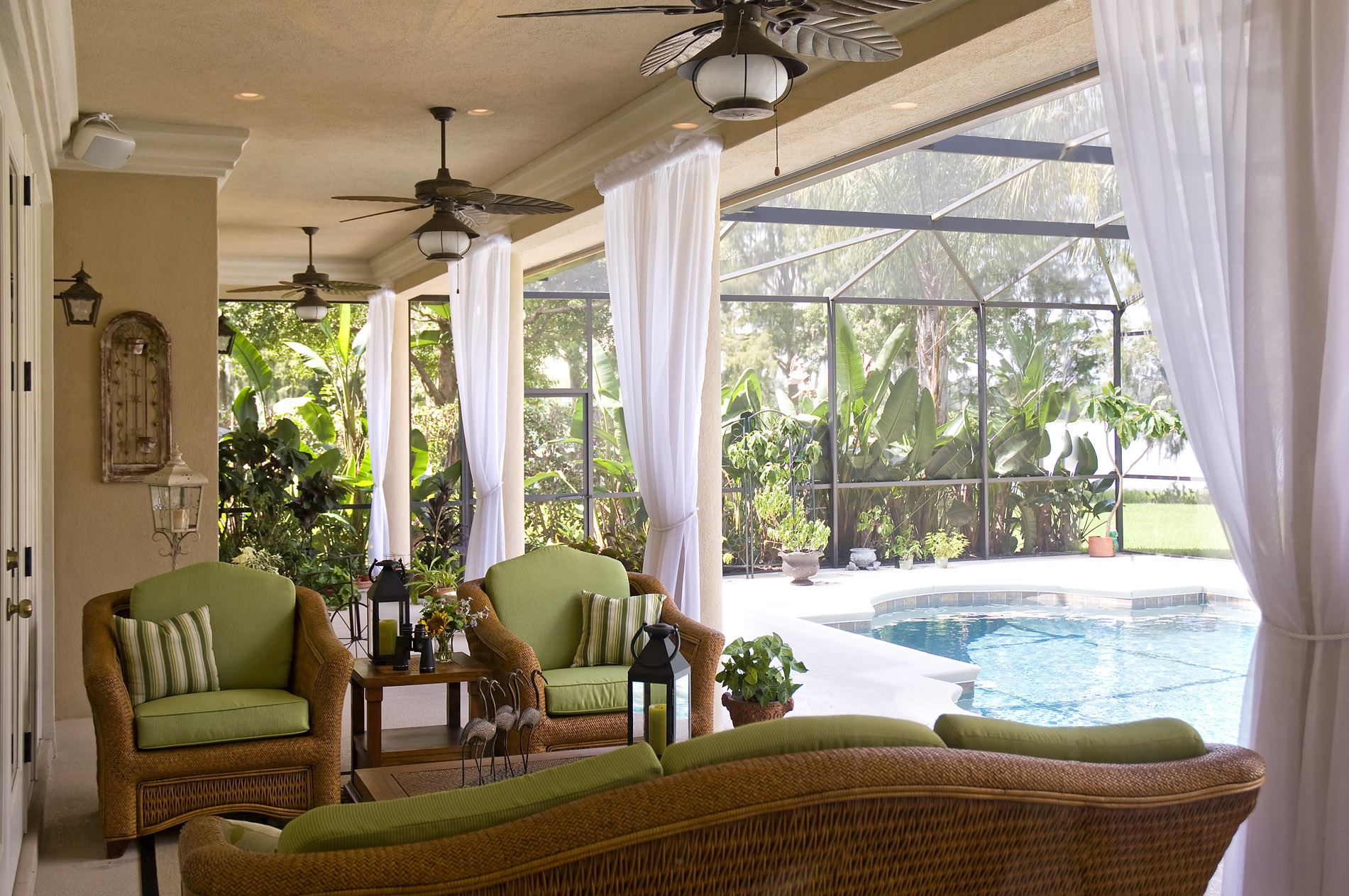 Heidi s hints great design is about more than beautiful for Small lanai decorating ideas