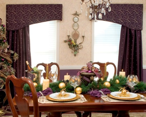 Purple Dining Table Top